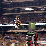 Ken Roczen, Germany, KTM,  in action during the 450SX Class Championship during round 16 of the Monster Energy AMA Supercross series held at MetLife Stadium. 62,217 fans attended the event held for the first time at MetLife Stadium, New Jersey, USA. 26th April 2014. Photo Tim Clayton
