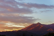 Mount Tamalpais with Winter Sunrise, Marin County, California
