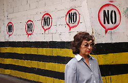 "Graffiti and posters have been popping up all over Caracas the past few weeks in anticipation of the Aug 15 presidential referendum, and most of it has consisted of a simple ""yes"" or ""no"" sign.  The ""no"" encourages people to vote against the referendum and keep president Chavez in power.  As the country inches towards a presidential referendum, Venezuela's opposition seems to be limping towards the finish line.  Many say the opposition lacks a clear proposal for the future of the country, and they certainly lack a clear presidential candidate, though a primary is scheduled for Aug 22 pending the results of the referendum."