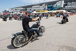 Daytona International Speedway during Daytona Beach Bike Week, FL. USA. Friday, March 15, 2019. Photography ©2019 Michael Lichter.