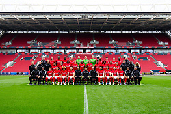 Bristol City main squad photo.<br /> <br /> Front Row L-R, Kalifa Cisse, Scott Murray, Adam Nagy, Jack Hunt, Han-Noah Massengo, Josh Brownhill, Assistant Head Coach Jamie McAllister, Head Coach Lee Johnson, Assistant Head Coach Dean Holden, Bailey Wright, Nathan Baker, Andi Weimann, Korey Smith, Goalkeeping Coach Pat Mountain and Brian Tinnion.<br /> <br /> Row 2 L-R, Andrew Proctor, Jon Williams, ,Sam Stanton, Jay Dasilva, Sammie Szmodics, Saikou Janneh, Pedro Pereira, Benik Afobe, Tomas Kalas, Antoine Semenyo, Kasey Palmer, Niclas Eliasson, Liam Walsh, Andy Rolls, Derrick Bonsu and Gill Holt.<br /> <br /> Back Row L-R, Paddy Orme, Marley Watkins, ,Tyreeq Bakinson, Famara Diedhiou, Taylor Moore, Niki Maenpaa, Daniel Bentley, Rene Gilmartin, Ashley Williams, Liam Walsh, Tommy Rowe, Hakeeb Adelakun and Luke Coles.<br /> <br />  - Rogan/JMP - 28/08/2019 - FOOTBALL - Ashton Gate Stadium - Bristol, England.