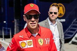 May 9, 2019 - Barcelona, BARCELONA, SPAIN - BARCELONA, CATALONIA, SPAIN 9 of May. Sebatien Vettel driver of Ferrari at the paddock of Spanish GP at Circuit de Barcelona Catalunya (Credit Image: © AFP7 via ZUMA Wire)