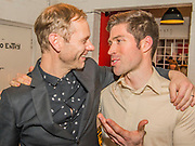 James Hillier with James Marples, the musician - Press night party for A Lie of the Mind by Sam Shepard a new production by Defibrillator at the Southwark Playhouse, London.