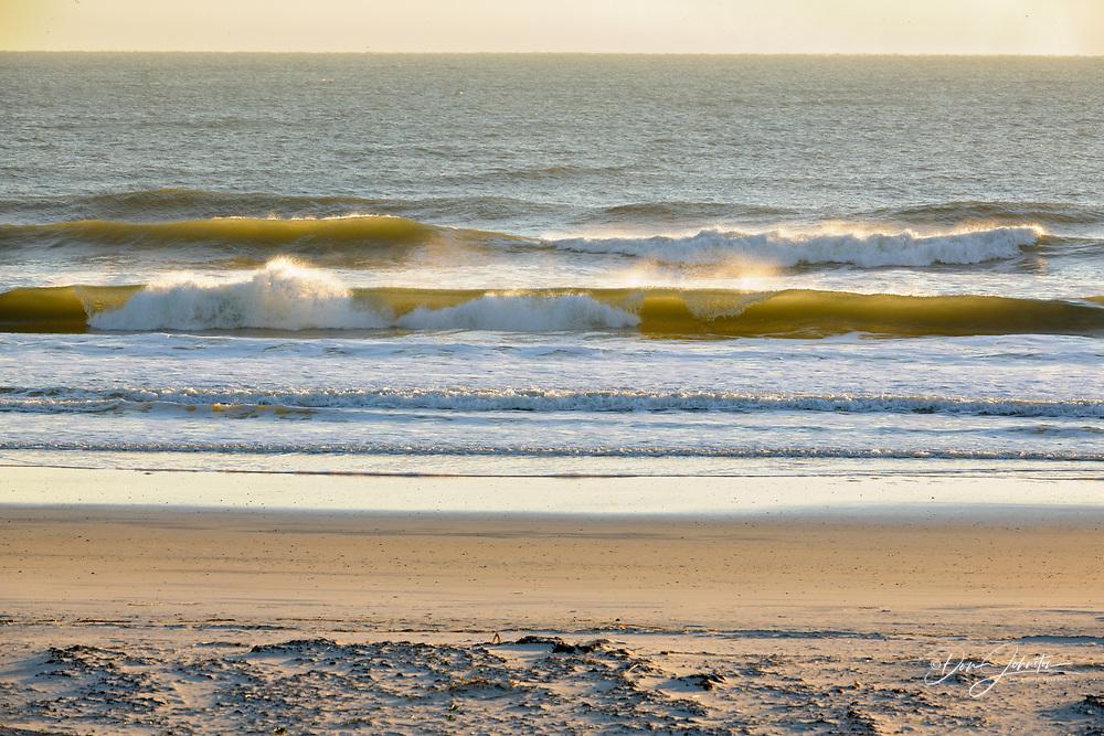 Atlantic surf and beach, Anastasia State Park, St. Augustine, Florida, USA