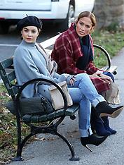 Jennifer Lopez, Vanessa Hudgens filming - 27 Oct 2017