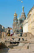 Saint Petersburg, Russia, August 2002..Russia's northern capital is undergoing major renovation and reconstruction in advance of its' 300th anniversary in 2003....