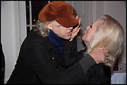 SIR BOB GELDOF; DEBBIE HARRY, Chris Stein / Negative: Me, Blondie, and The Advent of  Punk - private view, Somerset House, the Strand. London. 5 November 2014.