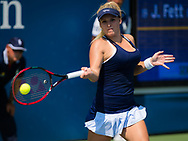 Jana Fett of Croatia in action during the final qualifications round, at the 2018 US Open Grand Slam tennis tournament, New York, USA, August 24th 2018, Photo Rob Prange / SpainProSportsImages / DPPI / ProSportsImages / DPPI