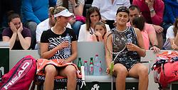May 30, 2019 - Paris, FRANCE - Elise Mertens of Belgium & Aryna Sabalenka of Belarus playing doubles at the 2019 Roland Garros Grand Slam tennis tournament (Credit Image: © AFP7 via ZUMA Wire)