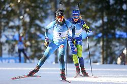 Anais Chevalier-Bouchet of France competes during the IBU World Championships Biathlon Women Pursuit competition on February 14, 2021 in Pokljuka, Slovenia. Photo by Primoz Lovric / Sportida