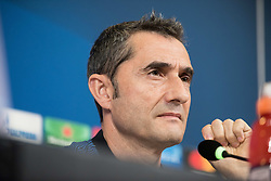 November 21, 2017 - Turin, Piemonte/Torino, Italy - Ernesto Valverde during the Futbol Club Barcelona press conference before the Champions League Match Juventus FC vs Futbol Club Barcelona at Juventus Stadium in Turin, Italy 21th november 2017. (Credit Image: © Alberto Gandolfo/Pacific Press via ZUMA Wire)