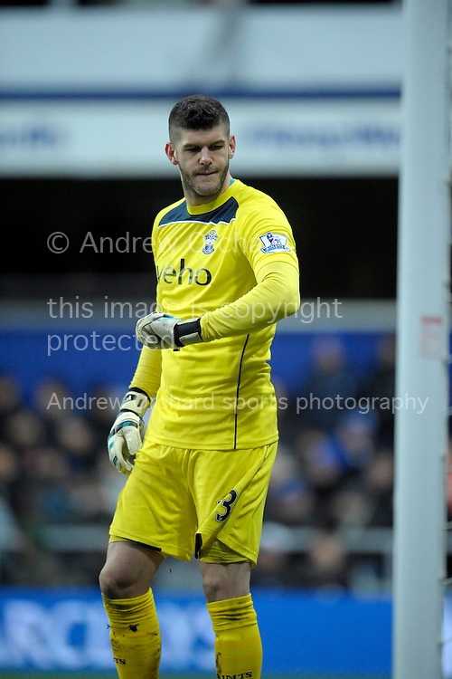 Goalkeeper Fraser Forster of Southampton .Barclays Premier league match, Queens Park Rangers v Southampton at Loftus Road in London on Saturday 7th Feb 2015. pic by John Patrick Fletcher, Andrew Orchard sports photography.