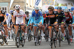 ©Licensed to London News Pictures. 07/05/2014<br /> Oundle, Northamptonshire. The start line for the 1st stage of the 1st Friends Womens Tour of Britain<br /> Photo credit: Steven Prouse/ LNP
