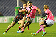 Damien Hoyland on the ball  during the European Rugby Challenge Cup match between Edinburgh Rugby and Stade Francais at Murrayfield Stadium, Edinburgh, Scotland on 12 January 2018. Photo by Kevin Murray.