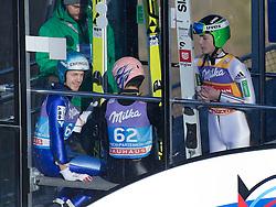 31.12.2016, Olympiaschanze, Garmisch Partenkirchen, GER, FIS Weltcup Ski Sprung, Vierschanzentournee, Garmisch Partenkirchen, TRaining, im Bild v.l.n.r.: Michael Hayboeck (AUT), Andreas Kofler (AUT) und Domen Prevc (SLO) // f.l.: Michael Hayboeck of Austria Andreas Kofler of Austria and Domen Prevc of Slovenia the Olympiaschanze in Garmisch Partenkirchen, Germany on 2016/12/31. EXPA Pictures © 2016, PhotoCredit: EXPA/ Jakob Gruber