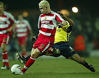 Photo: Aidan Ellis.<br /> Doncaster Rovers v Aston Villa. Carling Cup. 29/11/2005.<br /> Doncaster's Sean Thornton fires in a shot