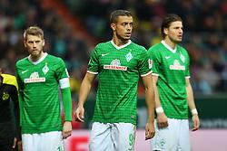 Football: Germany, 1. Bundesliga<br /> Aaron Hunt (SV Werder Bremen), Franco Di Santo (SV Werder Bremen), Sebastian Proedl (SV Werder Bremen)