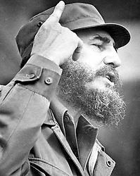 FIDEL ALEJANDRO CASTRO RUZ (August 13, 1926 - November 25, 2016), commonly known as Fidel Castro, was a Cuban politician and revolutionary who governed the Republic of Cuba as Prime Minister from 1959 to 1976 and then as President from 1976 to 2008. Castro was a controversial and divisive world figure. FILE PICTURE: Feb 01, 1976; Havana, Cuba; Cuba's Fidel Castro. (Credit Image: © Boris Spremo/Toronto Star/ZUMA Press)