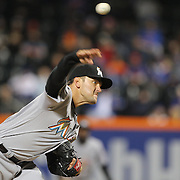NEW YORK, NEW YORK - APRIL 11: Pitcher Jarred Cosart, Miami Marlins, pitching during the Miami Marlins Vs New York Mets MLB regular season ball game at Citi Field on April 11, 2016 in New York City. (Photo by Tim Clayton/Corbis via Getty Images)