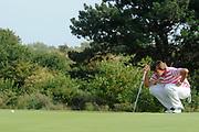 Een dag voor het KLM Open wordt de KLM pro Am gespeeld. Amateurs spelen gezamenlijk met een speler van de European Tour , sponsoren en genodigden op de toernooibaan van Kennemer Golf & Country Club .<br /> <br /> Op de foto:<br /> <br />  Top Golfer Robert-Jan Derksen <br /> <br /> The day before the KLM Open, the KLM pro Am games. Amateurs play together with one player from the European Tour, sponsors and invited guests at the tournament path of Kennemer Golf & Country Club.