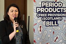 Period Poverty Members Bill, Edinburgh, 24 April 2019