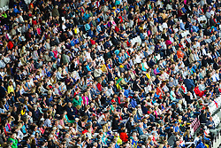 London, 2017 August 07. A packed stadium cheers on the athletes on day four of the IAAF London 2017 world Championships at the London Stadium. © Paul Davey.