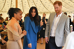 File photo dated 20/09/18 of the Duchess of Sussex, accompanied by the Duke of Sussex, and her mother, Doria Ragland, welcoming the women behind the cookbook she has championed to Kensington Palace in London. The Duke and Duchess of Sussex will celebrate the first birthday of their son Archie – while under lockdown in the US.