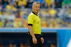 June 22, 2018 - Saint Petersburg, Russia - Referee Bjorn Kuipers looks on during the 2018 FIFA World Cup Russia group E match between Brazil and Costa Rica on June 22, 2018 at Saint Petersburg Stadium in Saint Petersburg, Russia. (Credit Image: © Mike Kireev/NurPhoto via ZUMA Press)