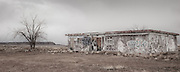 An abandoned town in Arizona that once belonged to the Navajo, but now owned by the Hopi after a land exchange.