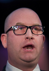 © Licensed to London News Pictures. 28/11/2016. London, UK. Paul Nuttall is announced as the new leader of the UK Independence Party (UKIP), at the Emmanuel Centre in Westminster London. Photo credit: Peter Macdiarmid/LNP