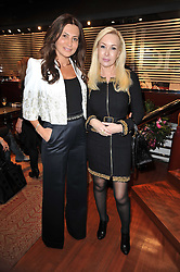 Left to right, ELLA KRASNER and SVETLANA MOHAN at a party to view jewellery by Adler and paintings by Marie Guerlain held at Adler, 13 New Bond Street, London W1 on 9th February 2011.