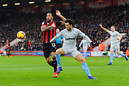 Callum Wilson (13) of AFC Bournemouth battles for possession with Felipe Anderson (8) of West Ham United during the Premier League match between Bournemouth and West Ham United at the Vitality Stadium, Bournemouth, England on 19 January 2019.