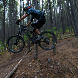 Pete Hoang riding Race of Spades at Moose Mountain in Alberta, Canada