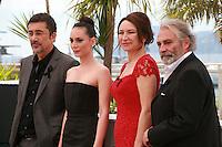 Nuri Bilge Ceylan, Melisa Sözen, Demet Akbağ and Haluk Bilginer at the photocall for the film Winter Sleep (Palme d'Or winner) at the 67th Cannes Film Festival, Friday 16th May 2014, Cannes, France
