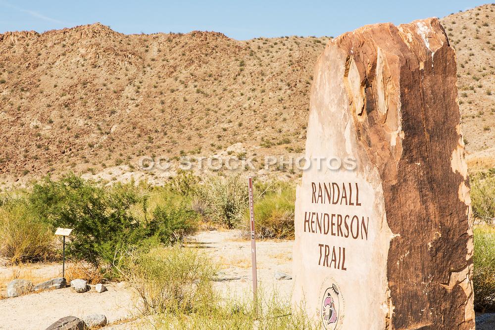 Randall Henderson Trail Head Marker Palm Desert