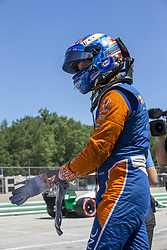 June 23, 2018 - Elkhart Lake, Wisconsin, United States of America - SCOTT DIXON (9) of New Zealand prepares to take to the track to qualify for the KOHLER Grand Prix at Road America in Elkhart Lake, Wisconsin. (Credit Image: © Justin R. Noe Asp Inc/ASP via ZUMA Wire)