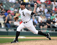 CHICAGO - APRIL 21:  Zach Duke #33 of the Chicago White Sox pitches against the Los Angeles Angels of Anaheim on April 21, 2016 at U.S. Cellular Field in Chicago, Illinois.  The Angels defeated the White Sox 3-2.  (Photo by Ron Vesely)   Subject: Zach Duke