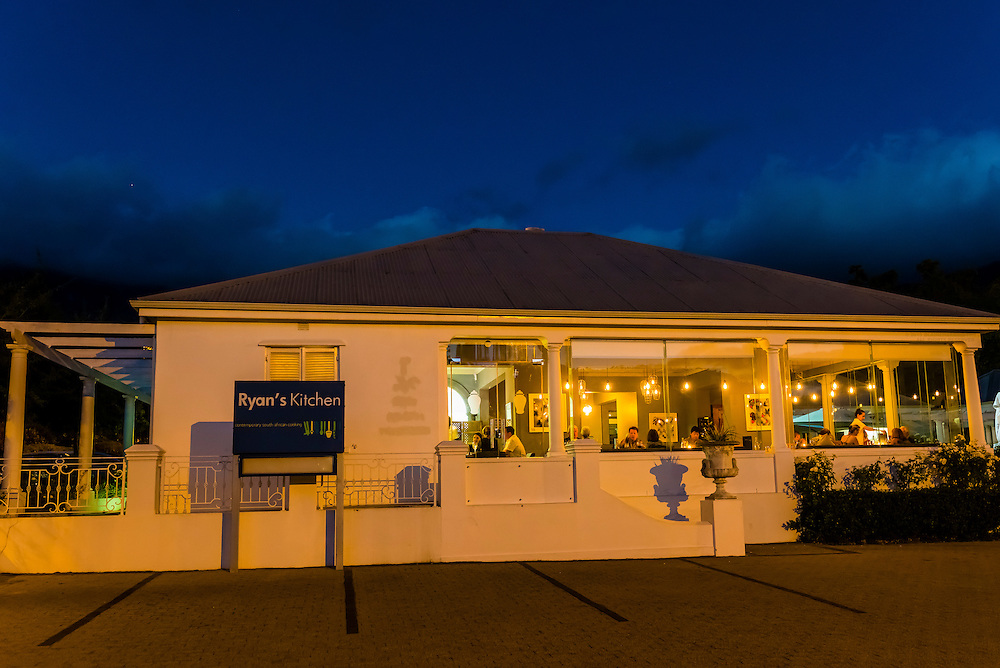 Ryan's Kitchen, Franschhoek, Cape Winelands, near Cape Town, South Africa.