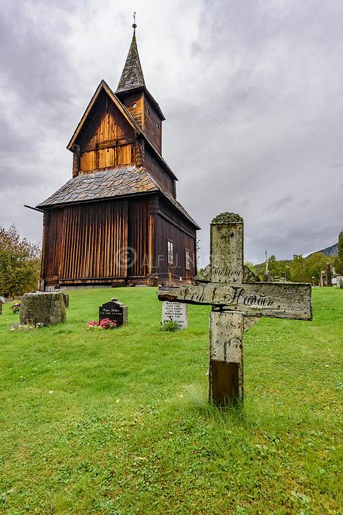 Torpo Stave Church in Ål, Hallingdal (Viken), Norway, build around 1160 and dedicated to Saint Margareta.