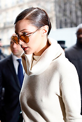 January 24, 2017 - Paris, France - Bella Hadid seen arriving at her hotel in Paris, on January 24, 2017. (Credit Image: © Mehdi Taamallah/NurPhoto via ZUMA Press)