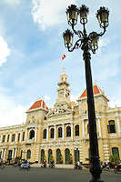 Ho Chi Minh City Hall was built in 1902-1908 in a French colonial style for the then city of Saigon and called Hotel de Ville de Saigon -  It was renamed after 1975 as Ho Chi Minh City People's Committee Hall. The building is Illuminated at night, though it is not opened to the public.  Saigon Town Hall was completed in 1908. Its French builders imitated town halls in Europe.  Once the Communist government took over in 1975 the building took on its present name.  Its French-Colonial architecture and cream and yellow coloring, not to mention its iconic statue of Ho Chi Minh himself, make it a symbol of Saigon.