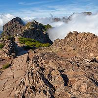 Beautiful views above the clouds on Pico do Arieiro.