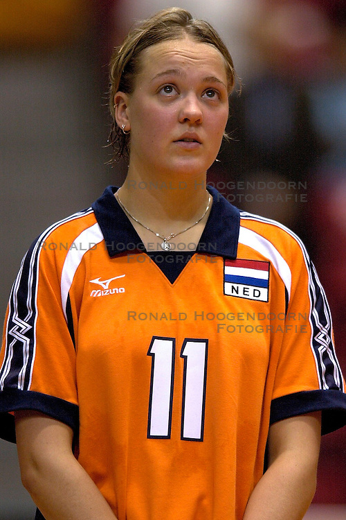 17-06-2000 JAP: OKT Volleybal 2000, Tokyo<br /> Nederland - Italie 2-3 / Kitty Sanders