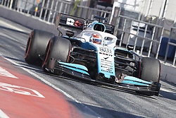 February 26, 2019 - Spain - George Russel (Williams Racing) FW42 car, seen in action during the winter testing days at the Circuit de Catalunya in Montmelo  (Credit Image: © Fernando Pidal/SOPA Images via ZUMA Wire)