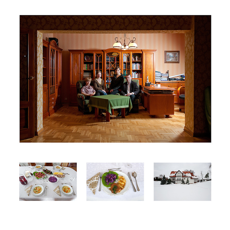 We care about the food we buy, we try to have a balance between quality and price and also buy Polish products. In the winter our food is more heavy and in summer lighter. On an average week we spend 500zł (€125) on food. We buy our vegetables from the farmer's market. When we want big quantities of meat, Robert buys from his company but for smaller quantities we buy from the local butcher. <br /> We cook at home everyday but because we are coming home at different times it is difficult to eat together on weekdays. Once a month we go to a restaurant. Agnieszka does the cooking, she learned how to cook from her grandmother. Sometimes the girls help in the kitchen too. From May to September we have BBQ once a week and then Robert is the boss. Fresh products of high quality and good meat make a good meal for us.