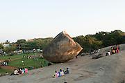 India, Tamil Nadu, Mahabalipuram Krishna's butter ball - a balancing rock