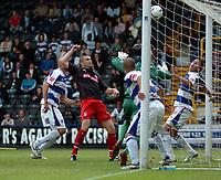 Photo: Tony Oudot.<br /> Queens Park Rangers v Stoke City. Coca Cola Championship. 06/05/2007.<br /> Dominc Matteo of Stoke City comes close to scoring