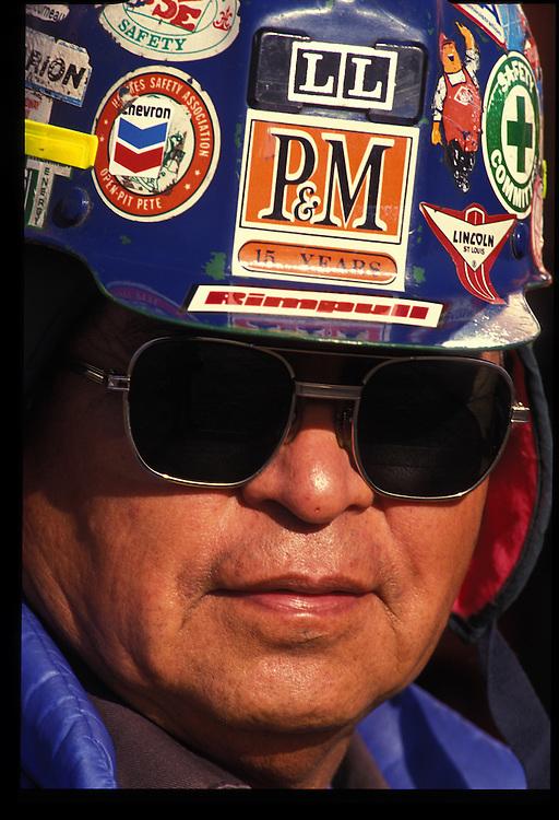 Portrait of Pittsberg and Midway Coal Mine employee.  Tse Bonito, NM  1993