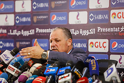 June 27, 2018 - Cairo, Egypt - Hani Abu Rida, president of the Egyptian Football Federation, speaks during the Egyptian Football Federation press conference after egyptian team leave world cup from group stage, Cairo, Egypt. June 27 2018. (Credit Image: © Islam Safwat/NurPhoto via ZUMA Press)