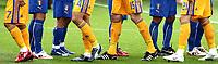 GEPA-1306086064 - ZUERICH,SCHWEIZ,13.JUN.08 - FUSSBALL - UEFA Europameisterschaft, EURO 2008, Italien vs Rumaenien, ITA vs ROM. Bild zeigt ein Feature mit den Beinen der Spieler.<br />Foto: GEPA pictures/ Philipp Schalber
